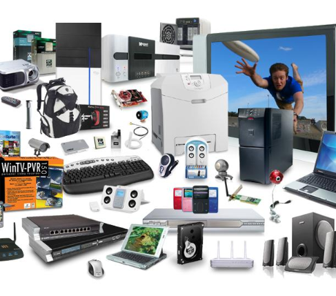 Collection of digital gadgets
