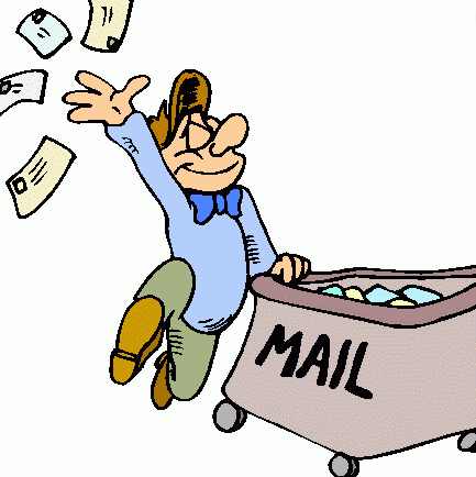person giving out mail
