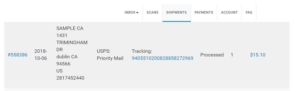 Edit your Shipment 5