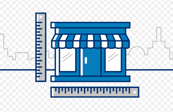 Cartoon depiction of a pack & ship store