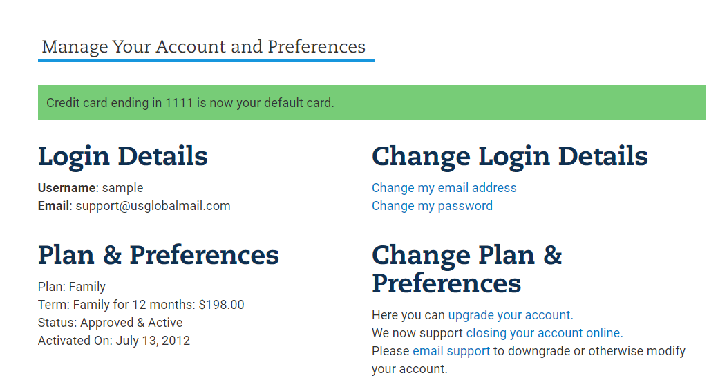 Select a default Payment 3