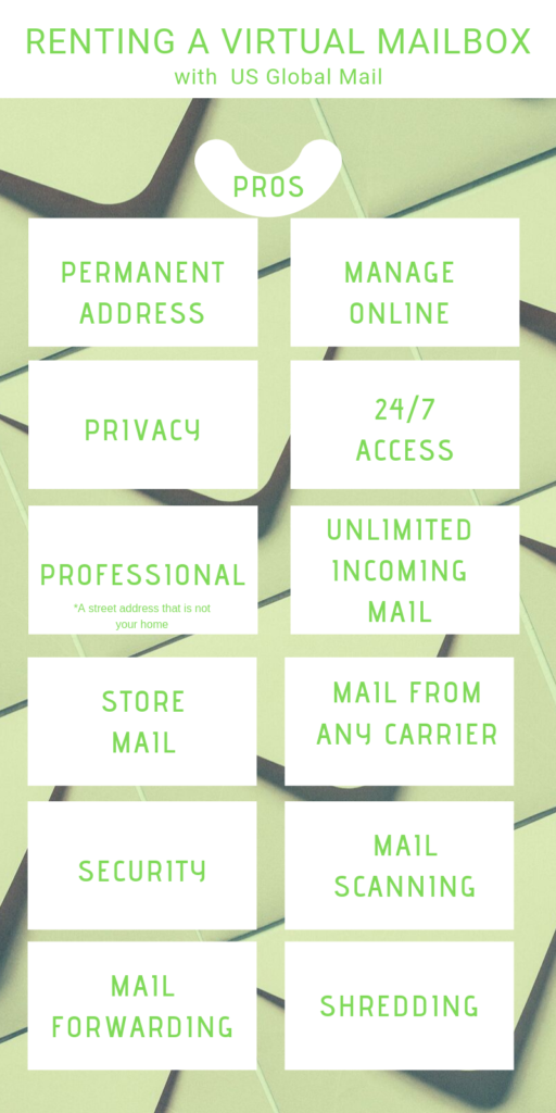 List of the advantages of renting a virtual mailbox