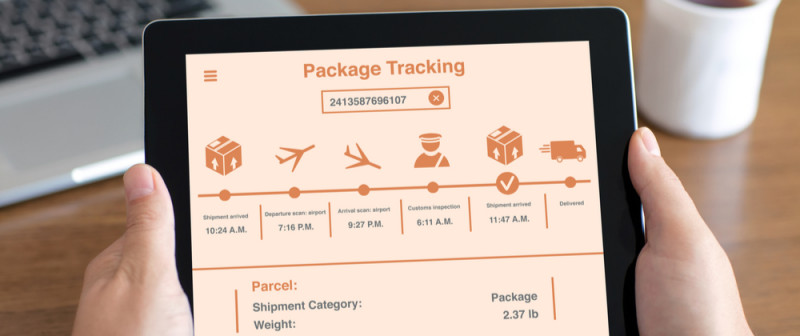 Tracking a package online