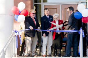 Ribbon cutting for a new business