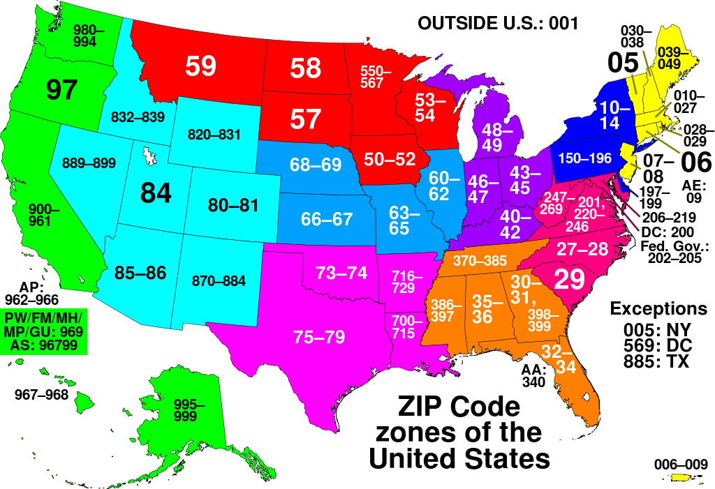 Us Postal Service Delivery Time Map How Long Will Mail Take From Zip Code to Zip Code?   US Global Mail