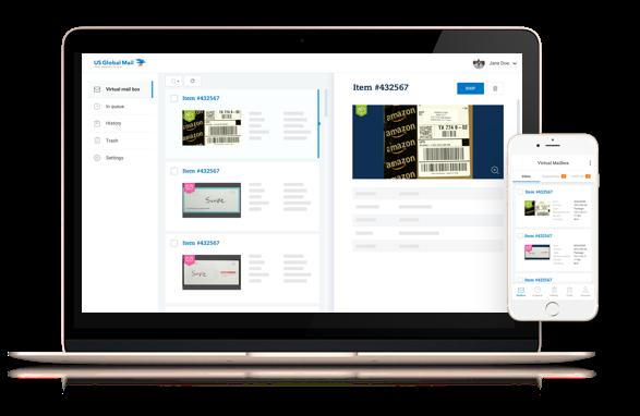 virtual mailbox platform on desktop and mobile