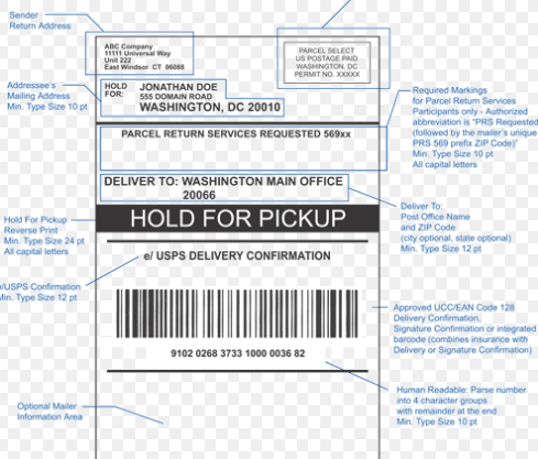 usps package held for pickup