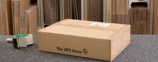 a package on a counter