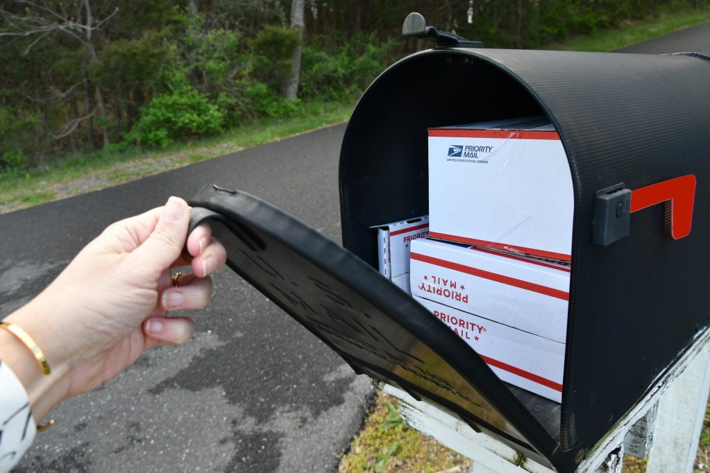 priority mail in a mailbox