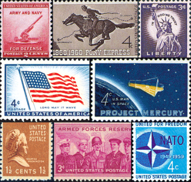 a set of stamps