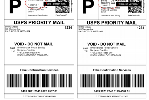 postage on priority mail