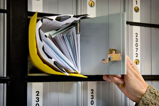 mail in a po box