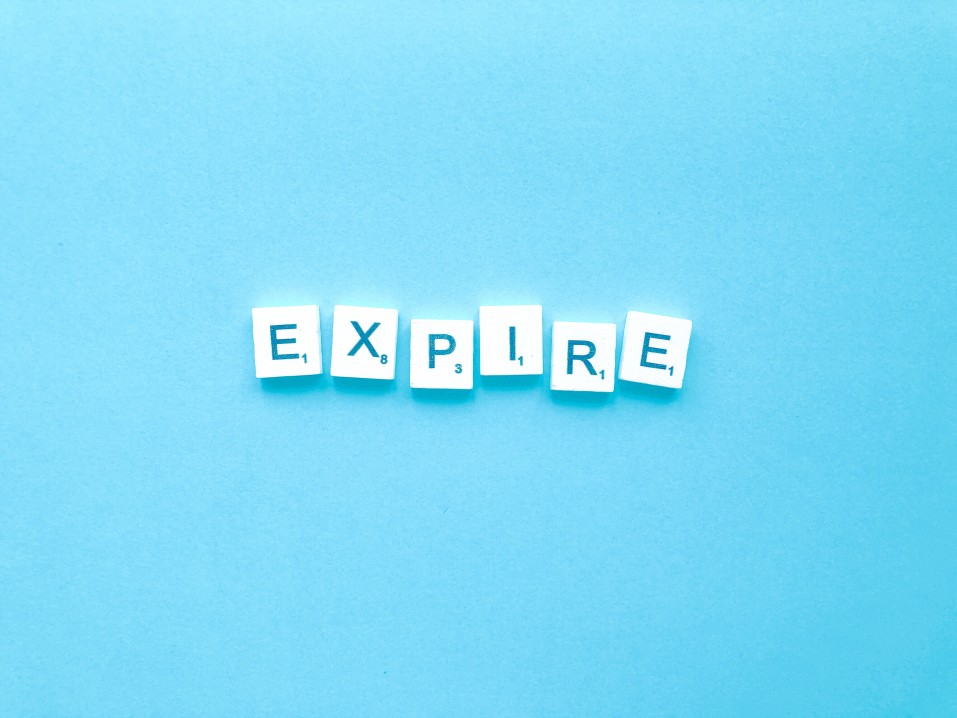 """letters saying """"expire"""""""