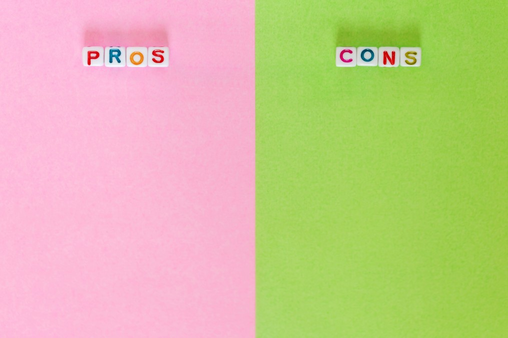 pros & cons of scheduling a pickup