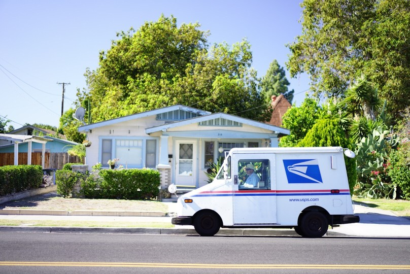 usps driving on the road