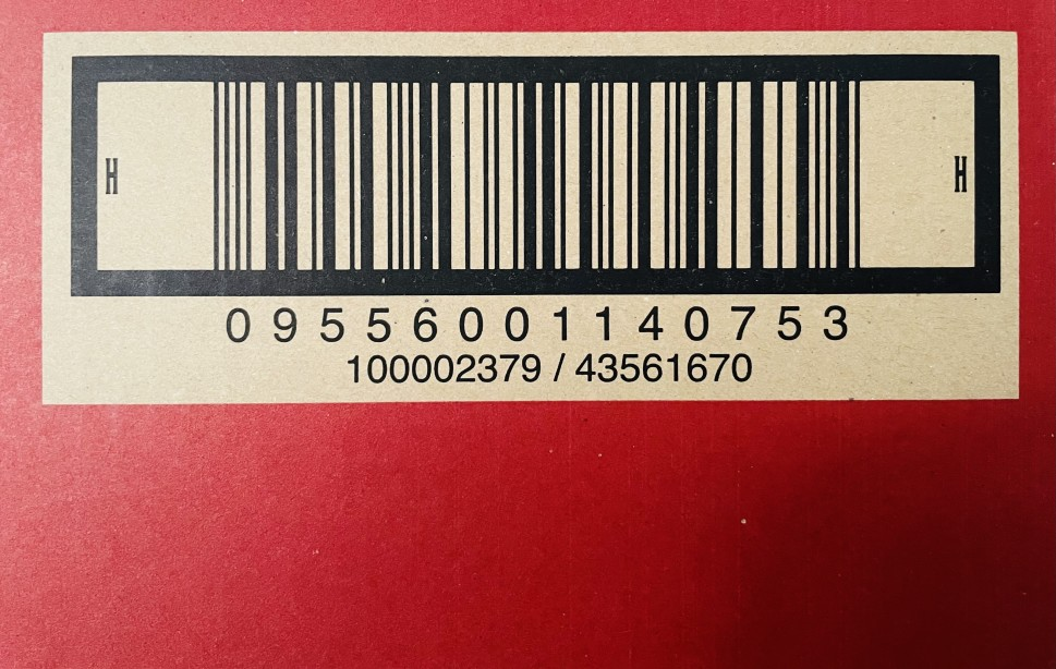 barcode for a package